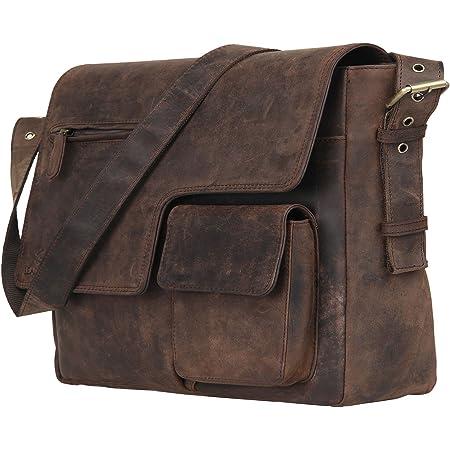 LEADERACHI Leather Muskat Messenger Bag - 30L