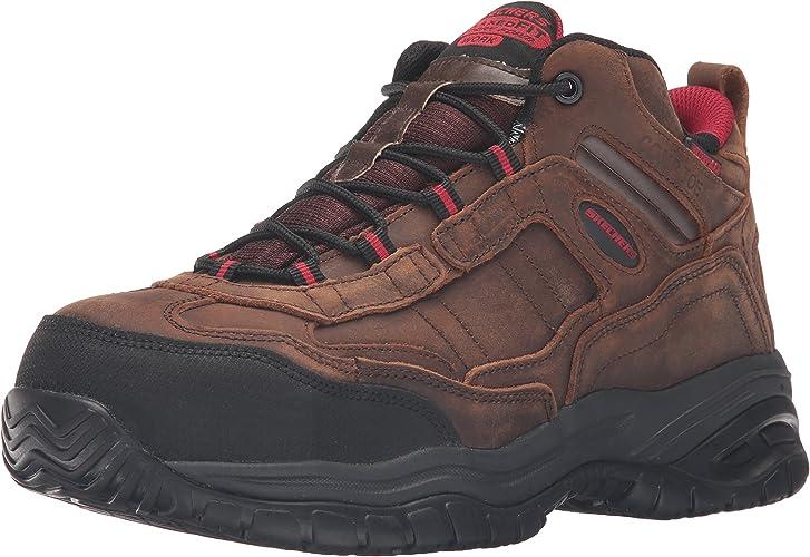 Skechers for Work Men's Soft Stride Gilbe Slip Resistant démarrage, marron - 8 2E US