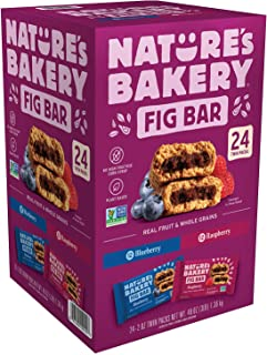 Nature's Bakery Whole Wheat Fig Bar, Convenient Bar On-To-Go,Vegan + Non-GMO, Variety Pack (Assorted Types, 24 Count)