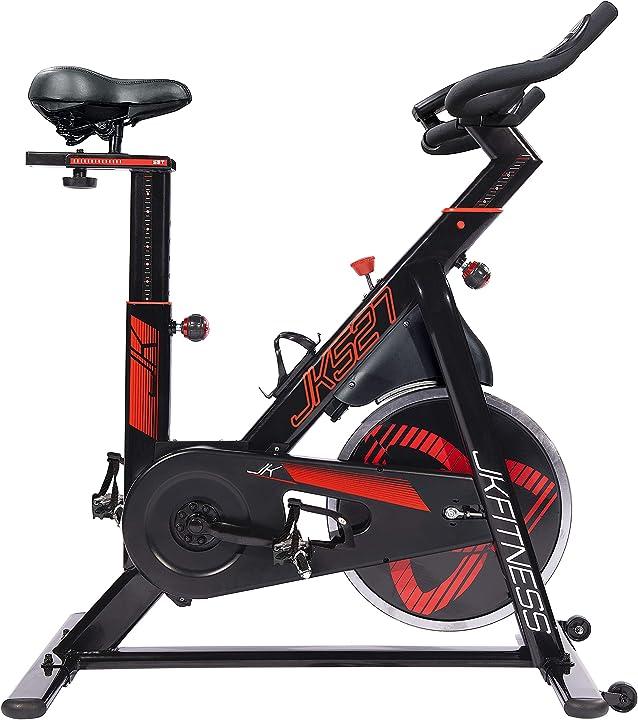 Spin bike indoor cycles jk527 - volano 20 kg - portata max 130 kg - trasmissione a cinghia jk fitness B08VWJZZPP