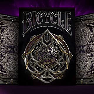 Bicycle Black Magic Playing Cards | Limited Edition Deck | Included 1 Protective Clear case
