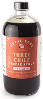 Royal Rose Three Chile Organic Simple Syrup, 16 Ounce