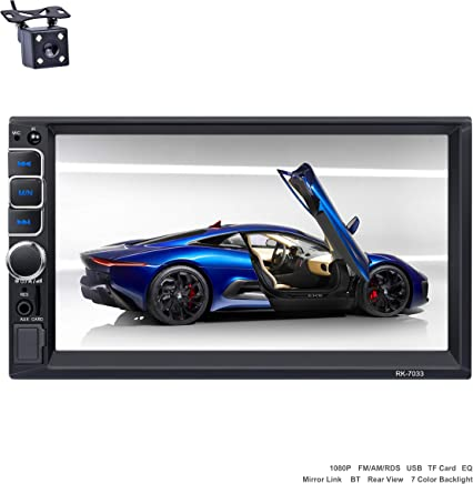Reakosound radio coche 2 din reproductor MP5 autoradio audio 1080p para coche Blutooth 7 pulgadas Pantalla