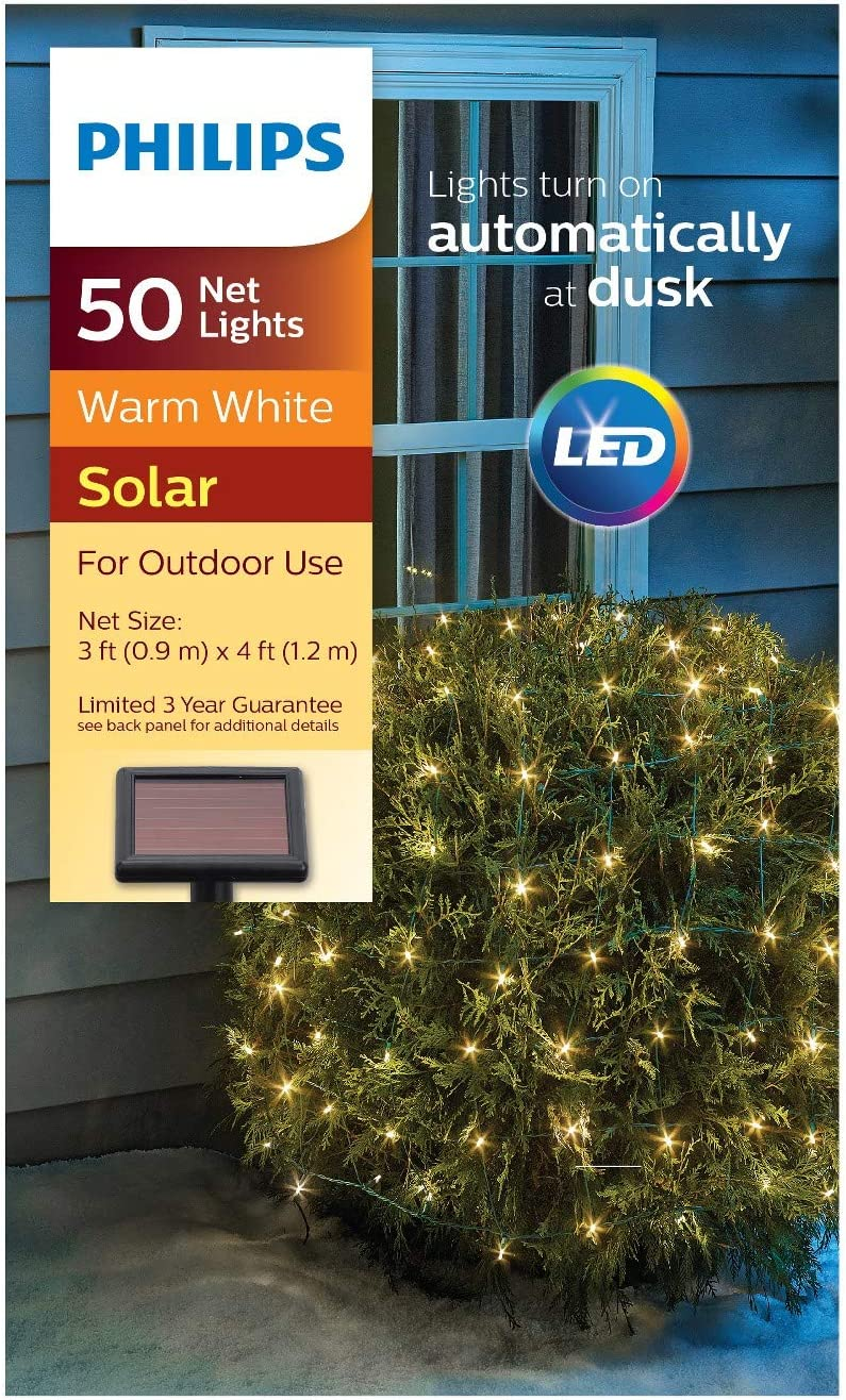 Super Special SALE held Philips Austin Mall 50ct Christmas Solar Net Warm GW Lights White