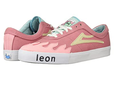 Lakai Sheffield Leon (Pink Canvas) Men