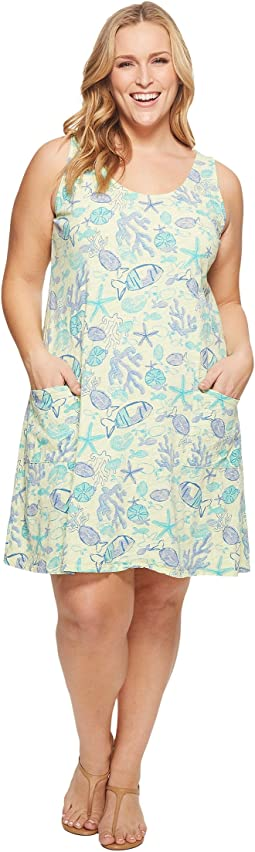 Extra Fresh by Fresh Produce - Plus Size Sea Life Drape Dress