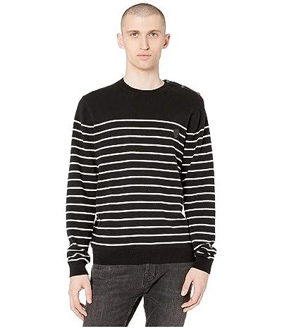 The Kooples Striped Sweater (Black/White) Men