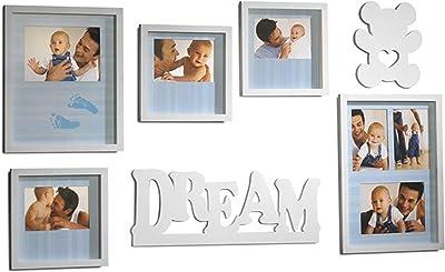 MELANNCO 7-Piece Baby Dream Wall Set