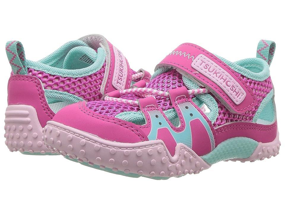 Tsukihoshi Kids Ibiza 2 (Toddler/Little Kid) (Fuchsia/Mint) Girls Shoes