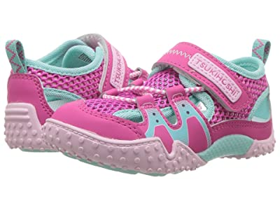 Tsukihoshi Kids Ibiza 2 (Toddler/Little Kid) (Fuchsia/Mint) Girls Shoes