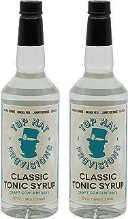 Top Hat Classic Tonic Jarabe – Concentrado Premium Tonic & Quinine – 2 paquetes de botellas de 32 onzas – Haz agua tónica ...