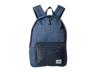 Herschel Supply Co. Classic Mid-Volume (Faded Denim/Indigo Denim) Backpack Bags