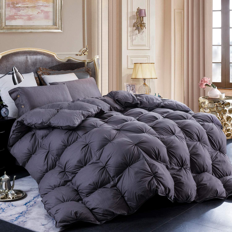 LESNNCIER Luxury Goose Down Comforter 公式サイト 1200 Cot Thread 100% 特売 Count