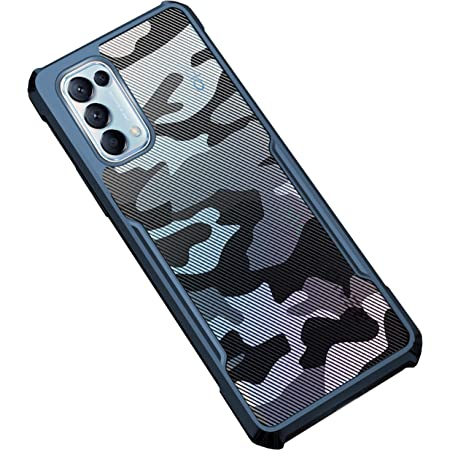 KAPA Back Cover For Oppo Reno 5 Pro ( TPU+Plastic|Blue )