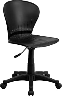 Flash Furniture Mid-Back Black Plastic Swivel Task Chair - RUT-A103-BK-GG