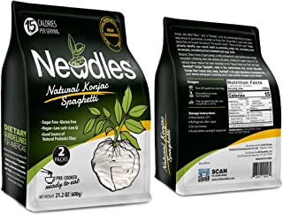 Newdles Konjac/Shirataki Low-Calorie Plain Spaghetti (2 packs) No boiling, Low Carb, Low Calories, High water-soluble dietary fiber, Non-GMO, Gluten-Free, No Sugar, Vegan(1)