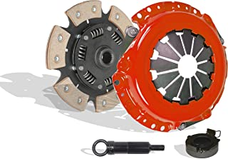 Clutch Kit Works With Geo Prizm Toyota Mr-2 Celica Base LSi ST All Trac 1990-1992 1.6L l4 2.2L l4 GAS DOHC Naturally Aspirated (VIN A 4AFE; VIN A 4AGELC; Vin E 3E; VIN 5; 6-Puck Disc Stage 2)