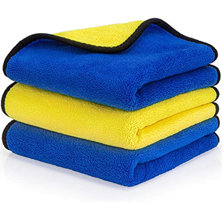 60 x BLUE CAR CLEANING DETAILING MICROFIBER SOFT POLISH CLOTHS TOWELS LINT FREE