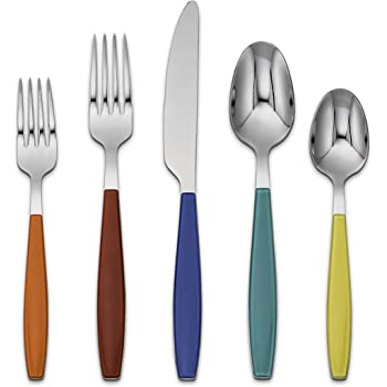 Fiesta Jamboree 20-Piece Color Flatware Set, Multi