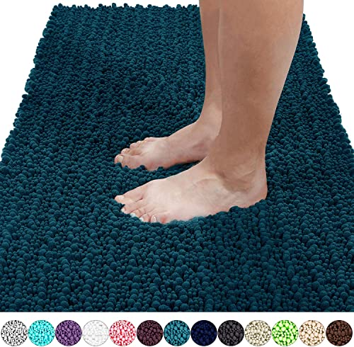 Yimobra Original Luxury Shaggy Bath Mat, 44.1 X 24 Inches, Soft and Cozy, Super Absorbent Water, Non-Slip, Machine-Wa...