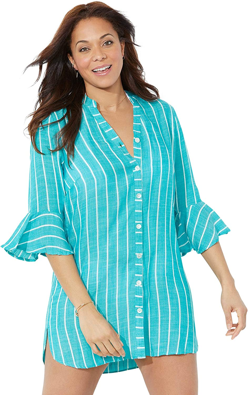 Swimsuits For All Women's Plus Size Cover Superlatite Japan Maker New Sandra Up Sh Button