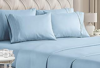 Queen Size Sheet Set - 6 Piece Set - Hotel Luxury Bed...