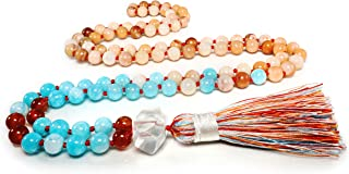 TamLyn Concepts Mala Beads - Tassel Necklace - Yoga Jewelry - Meditation Beads - Buddha Necklace - Chakra Stones - Tibetan Prayer Beads
