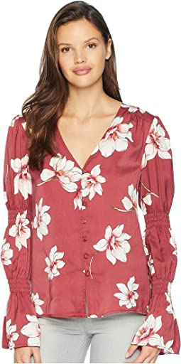 Christa Printed V-Neck Top