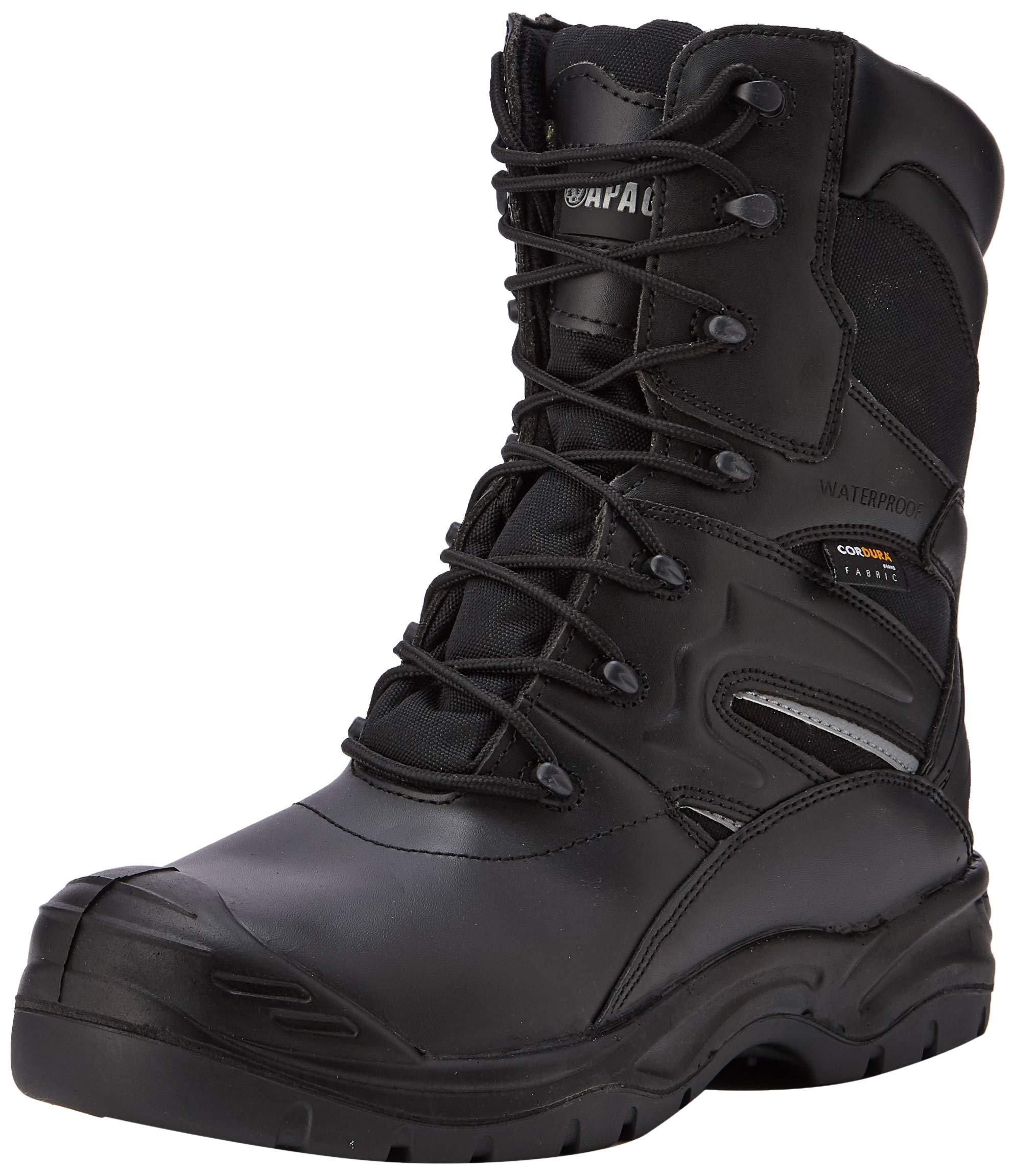 Apache Men Combat Safety Boots, Black