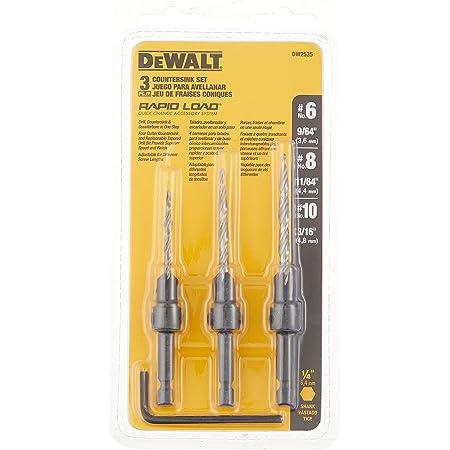 DEWALT Countersink Drill Bit Set #6, #8, #10, 3-Piece (DW2535)