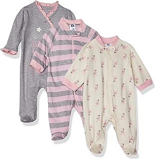 Baby Girls' 3-Pack Organic Sleep 'N Play