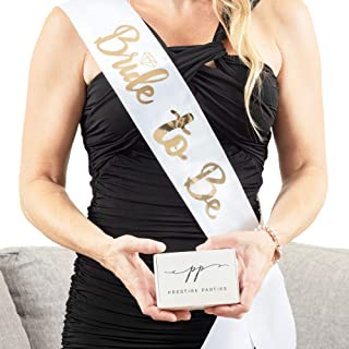 Bride to Be Sash / Hens Party Decorations / White Bride to Be Hens Party Sash / Engagement Party Decorations