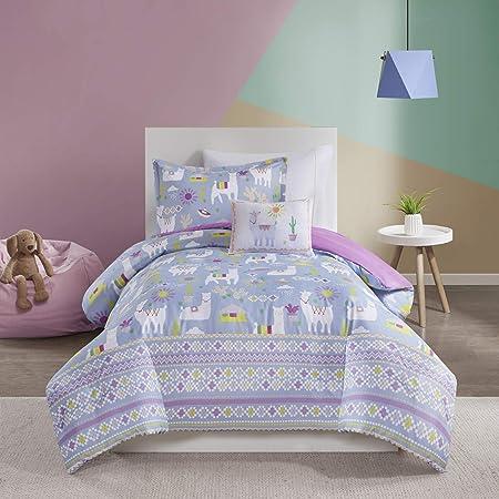 Amazon Com Kids Bedding Girls Blue Purple Llamas Cactus Andes Mountains Reversible Twin Comforter Set 3 Piece Set Homemade Wax Melts Home Kitchen