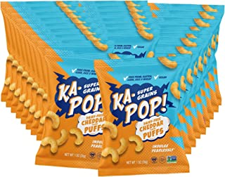 Sponsored Ad - Ka-Pop! Super Grain Puffs, Dairy Free Cheddar (1oz, Pack of 24) - Vegan, Gluten Free, Paleo Friendly, Ancie...