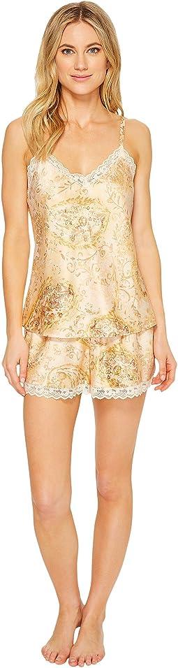 LAUREN Ralph Lauren Paisley Satin Cami Pajama Set