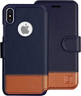 LUPA iPhone Xs Max Wallet Case -Slim & Lightweight iPhone Xs Max Flip Case with Credit Card Holder - iPhone Xs Max Wallet Case for Women & Men - Faux Leather iPhone Xs Max Purse Cases – Desert Sky