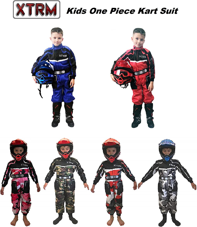 Kinder Kart Anzug XTRM Motorrad Kinder Rennfahrer Anzug Quad Sport Suit Kinder Cross Rennanzug fur Motocross Dirt Bike MX ATV PITBIKE Kart Motorroller Overall