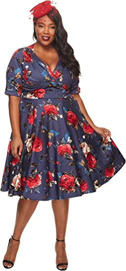 Unique Vintage - Plus Size Delores Swing Dress