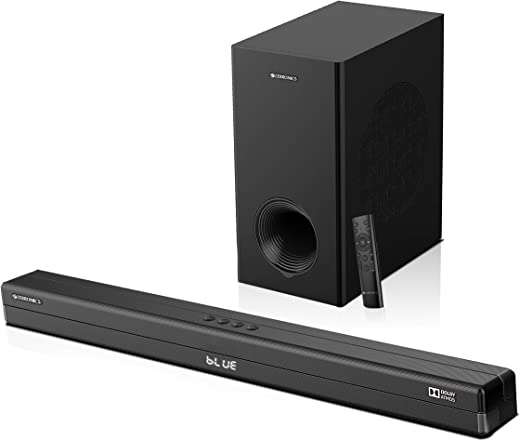 Zebronics Zeb-Juke Bar 9700 Pro Dolby Atmos Soundbar Home Theatre with Wired Subwoofer (450W, 2.1.2 Channel, 4K HDR, Triple HDMI)