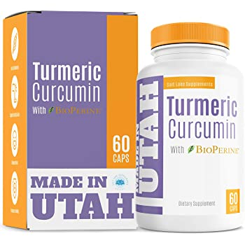 Turmeric Curcumin with BioPerine - Best Absorption and Bioavailability, Anti-Inflammatory and Natural Antioxidant with 95% Curcuminoids for Increased Immunity and Joint Pain Relief - 60 Capsules