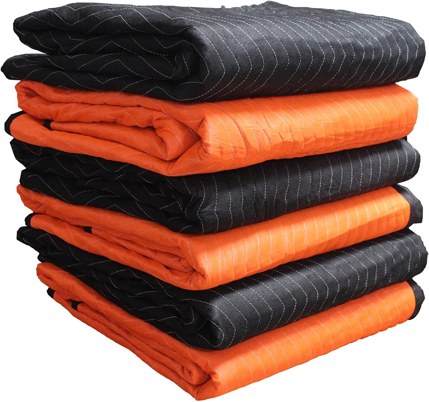 Forearm Forklift FFBMB6 72 Inch x 80 Inch Heavy Weight 6.7 Lbs Moving Blanket, 6-Pack, Model 72 x 80