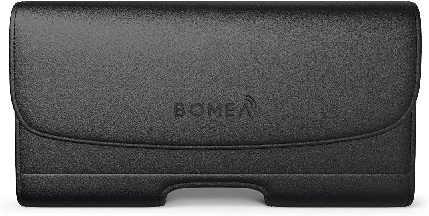 Bomea Belt Holster Designed for Samsung Galaxy S21/ S20/ S10/ S9/ S8 Belt Case Phone Pouch for Men Belt Clip Belt Loops with Credit Card Holder Fits Samsung Galaxy (NOT Plus) with Other Case On