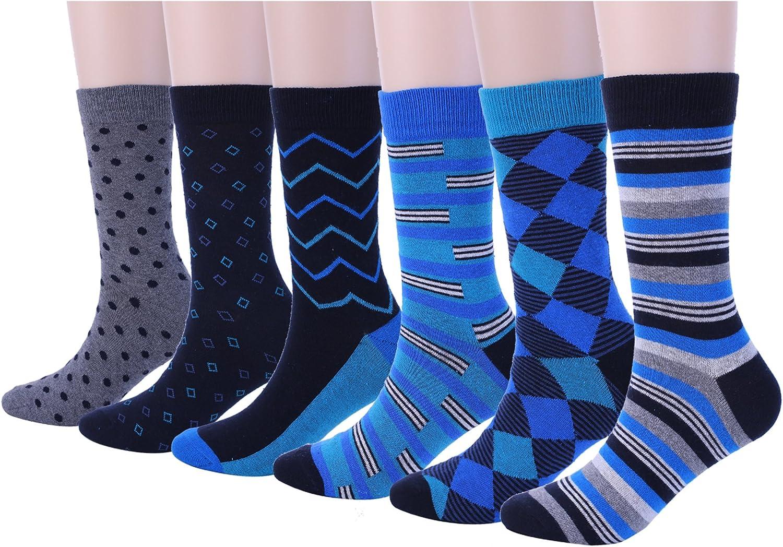 Teemet men's dress socks argyle business crew socks dress socks for men