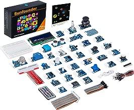 SunFounder 37 Modules Sensor Kit V2.0 for Raspberry Pi 4B 3 Model B+ 3B 2B B+ A+ Zero, GPIO Extension Board Jump Wires