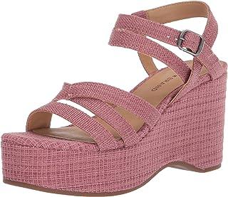 Lucky Brand Women's CARLISHA Wedge Sandal, Rose, 6