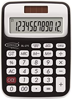 Bambalio 12 Digits BL-275 with 3 Years Warranty Electronic Calculator (Black)