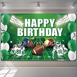 Football Birthday Party Backdrop Decorations Football Birthday Banner Super Football Bowl Game Day Sports Fan Supplies Foo...