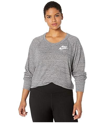 Nike Plus Size NSW Gym Vintage Crew (Carbon Heather/Sail) Women