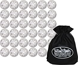 product image for Wiffle Plastic Practice Golf Balls 36 Pack with Exclusive Matty's Toy Stop Storage Bag