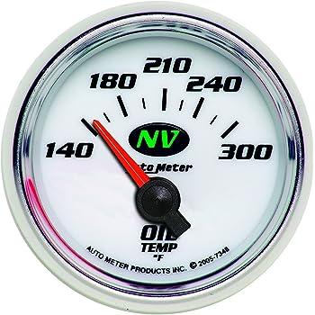 Auto Meter 7148 C2 2-1//16 140-300 F Short Sweep Electric Oil Temperature Gauge